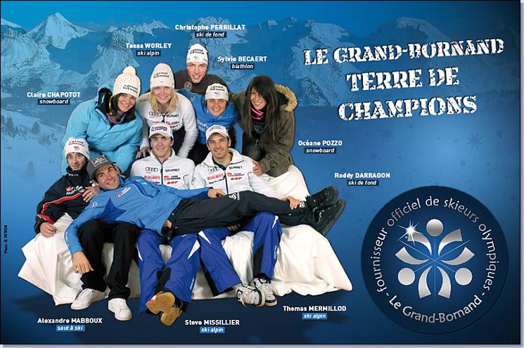 Photo des 8 champions du grand bornand qui ont particip s aux j o de vancouver 2010 - Office du tourisme grand bornand chinaillon ...