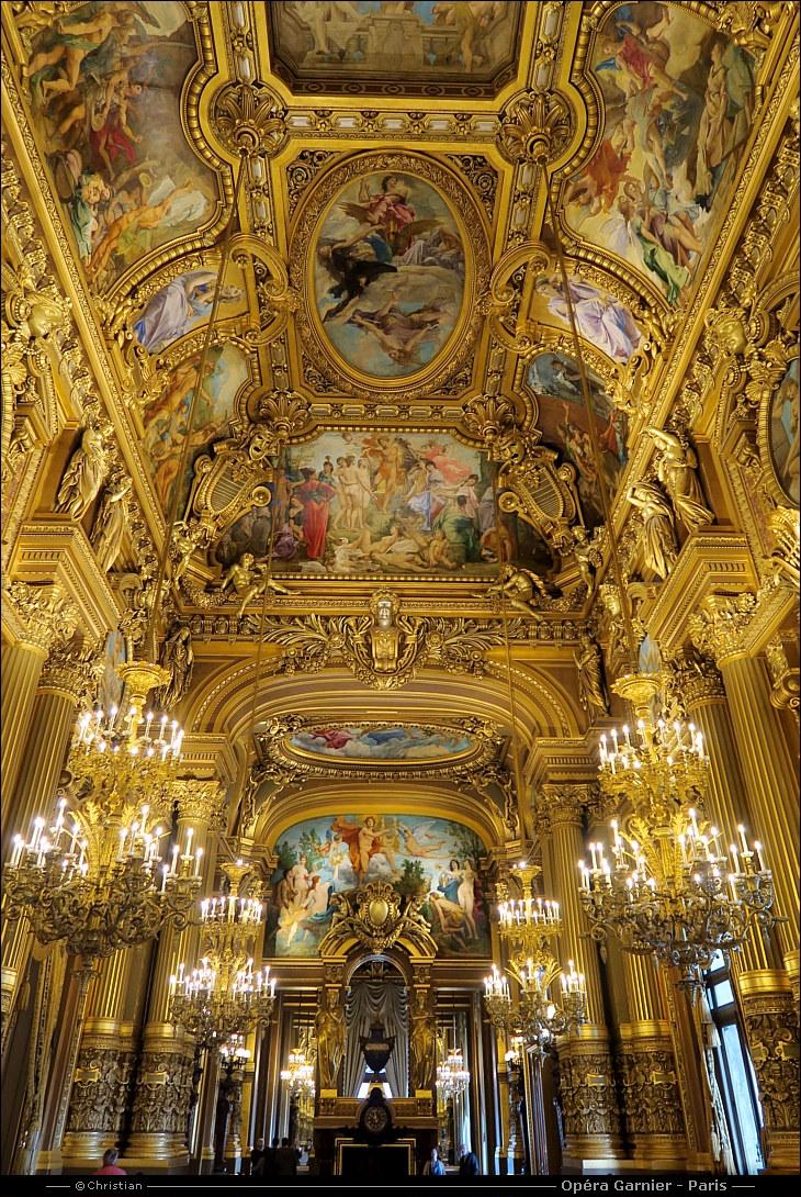 Superficie Grand Foyer Opera Garnier : L opréra garnier dans le ème à paris
